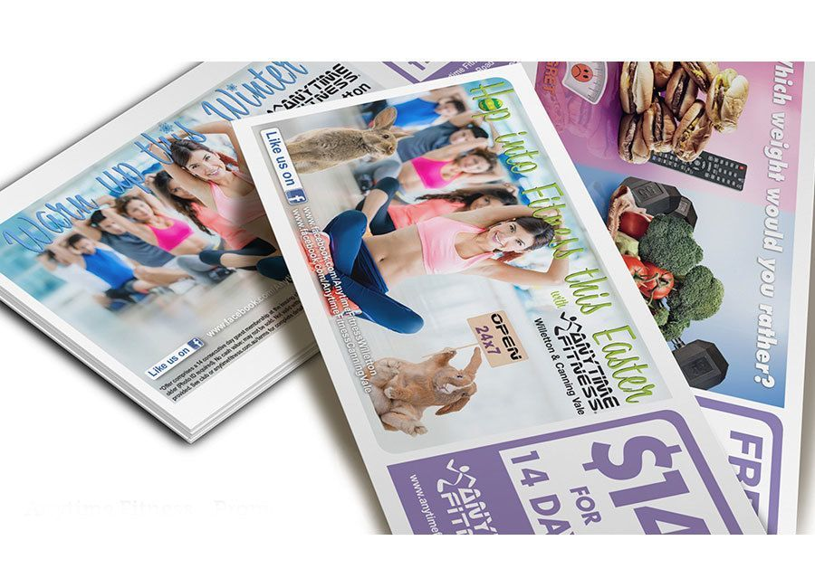 Anytime Fitness Perth Flyer Design
